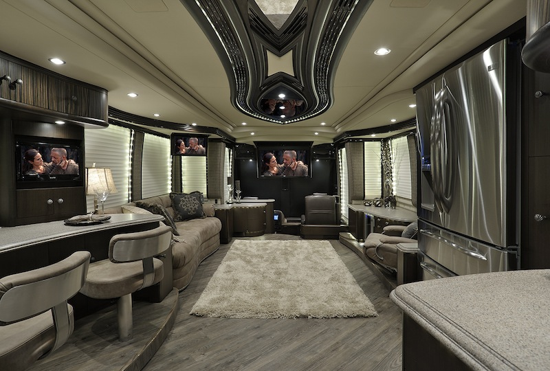 2015 prevost interior photos autos post for Million dollar motor coaches